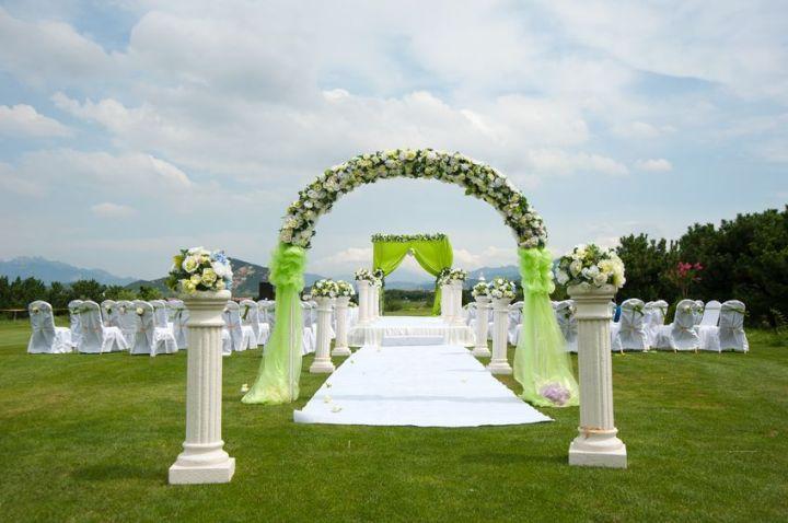 boda arco de flores
